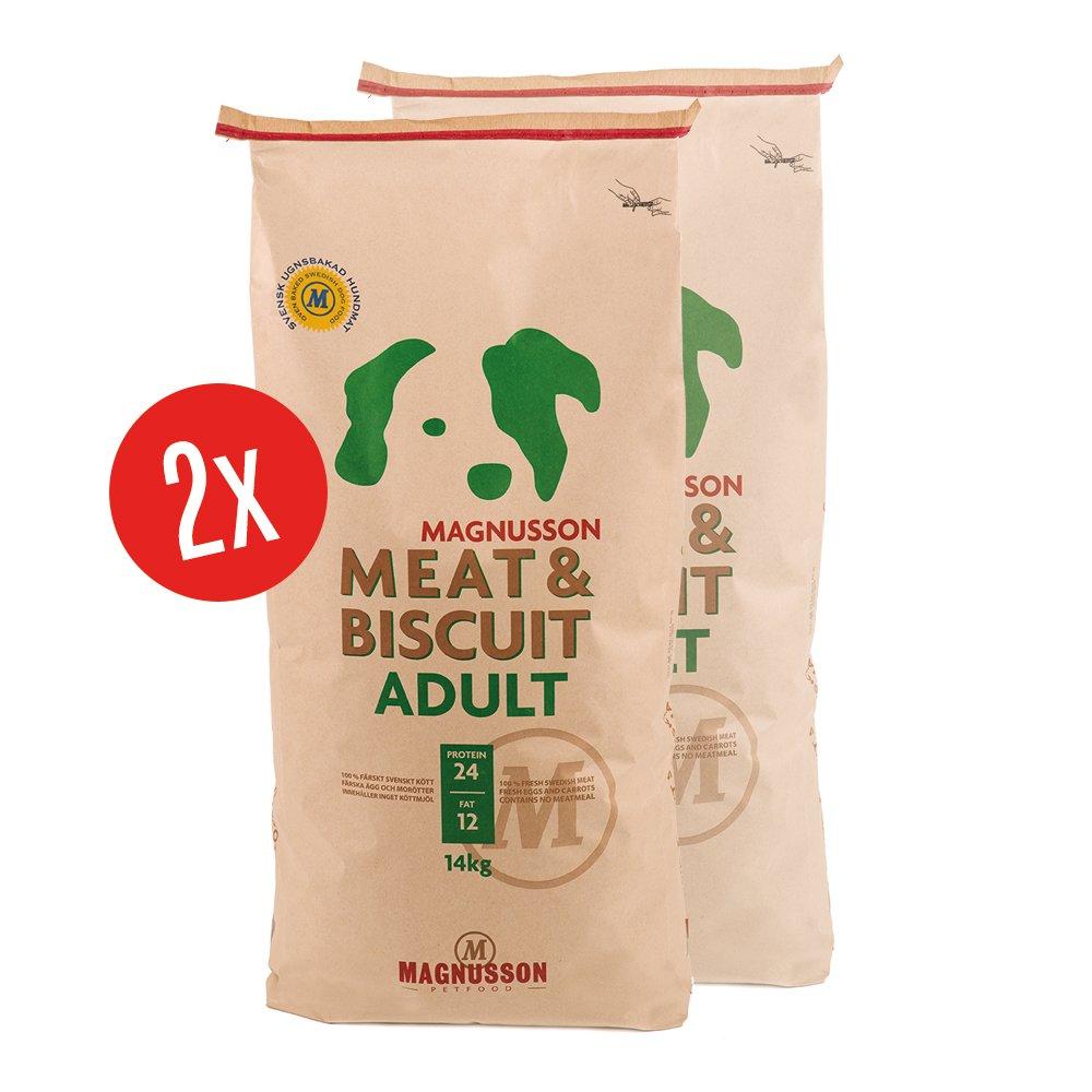 Magnusson Meat & Biscuit Adult Trockenfutter aus Schweden in Lebensmittelqualität für Hunde
