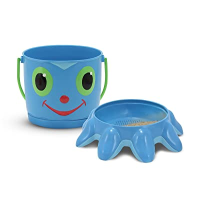 Melissa & Doug Sunny Patch Flex Octopus Sand Pail and Sifter: Melissa & Doug: Toys & Games