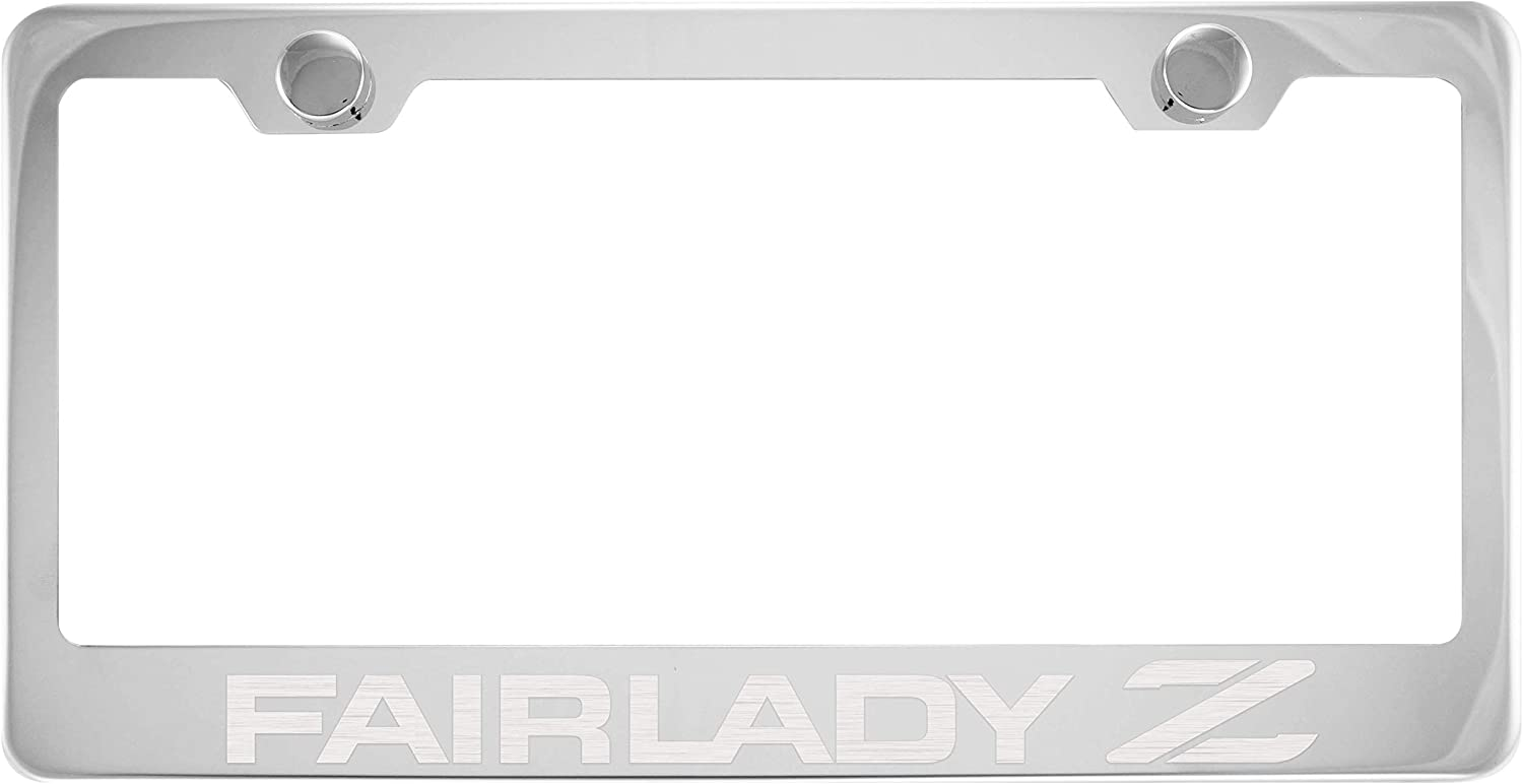 Fairlady Z Chrome License Plate Frame with Caps