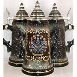 Black 16 German States Shields German Beer Stein .5L by Pinnacle Peak Trading Company