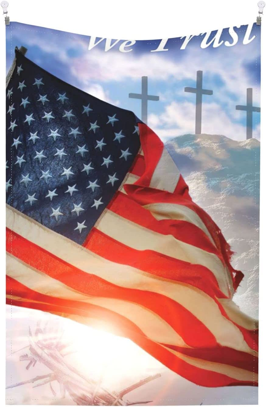 God Bless America Shiney Sun Tapestry As Wall Art And Home Decor For Bedroom Living Room And Wall Hanging For Room (60'¡®¡¯x40')