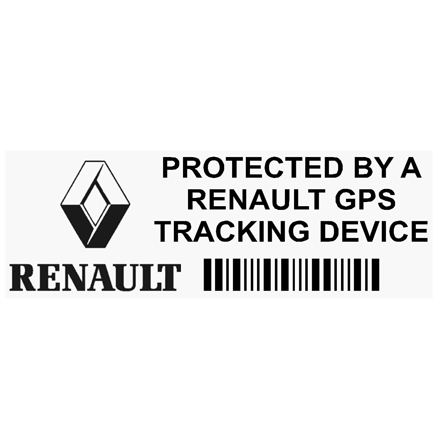 Platinum Place - Lot de 5 autocollants antivol en anglais PPRENAULTGPSBLK indiquant la protection du véhicule par un dispositif de repérage par GPS - 87 x 30 mm