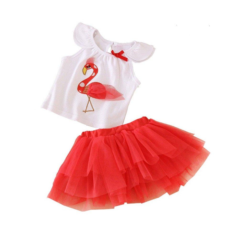 海外最新 Baby Months Girl 'sフラミンゴトップスとチュチュスカート夏セット 18 Months 18 Girl B019EAXJN6, KIRSCHFEU(キルシュフゥ):c57694d6 --- quiltersinfo.yarnslave.com
