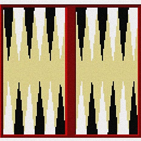 Pepita Backgammon Needlepoint Kit Pepita Needlepoint