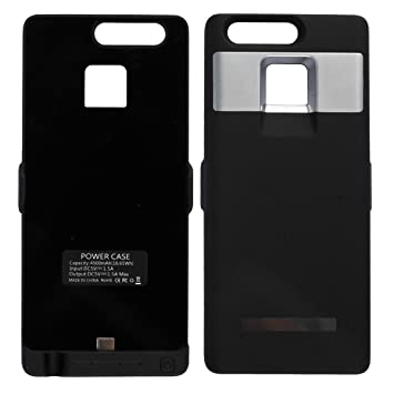 Huawei P9 recargable caso, Rasse® 4500 MAH Batería cargador de batería Carcasa con función atril para Huawei P9