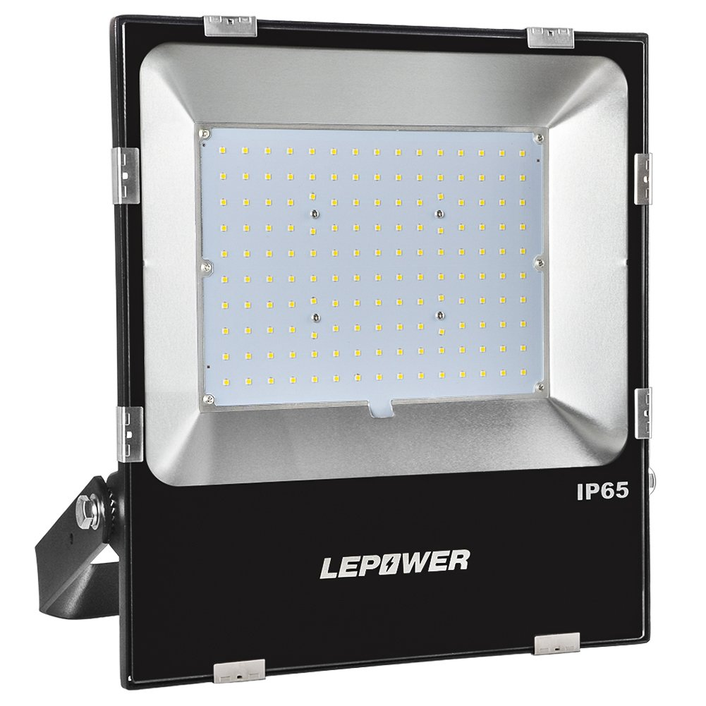LEPOWER 150W LED Flood Lights, UL Certification Super Bright Outdoor Work Lights, IP65 Waterproof, 19500lm, 4500K Floodlight for Garage, Patio and Eave (White Light)