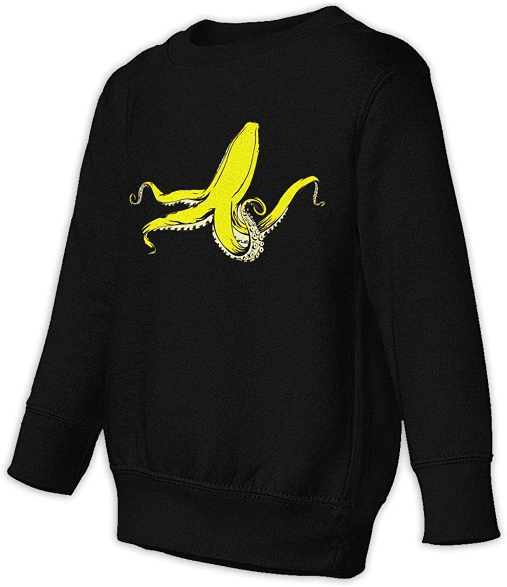 wudici Banana Squid Boys Girls Pullover Sweaters Crewneck Sweatshirts Clothes for 2-6 Years Old Children