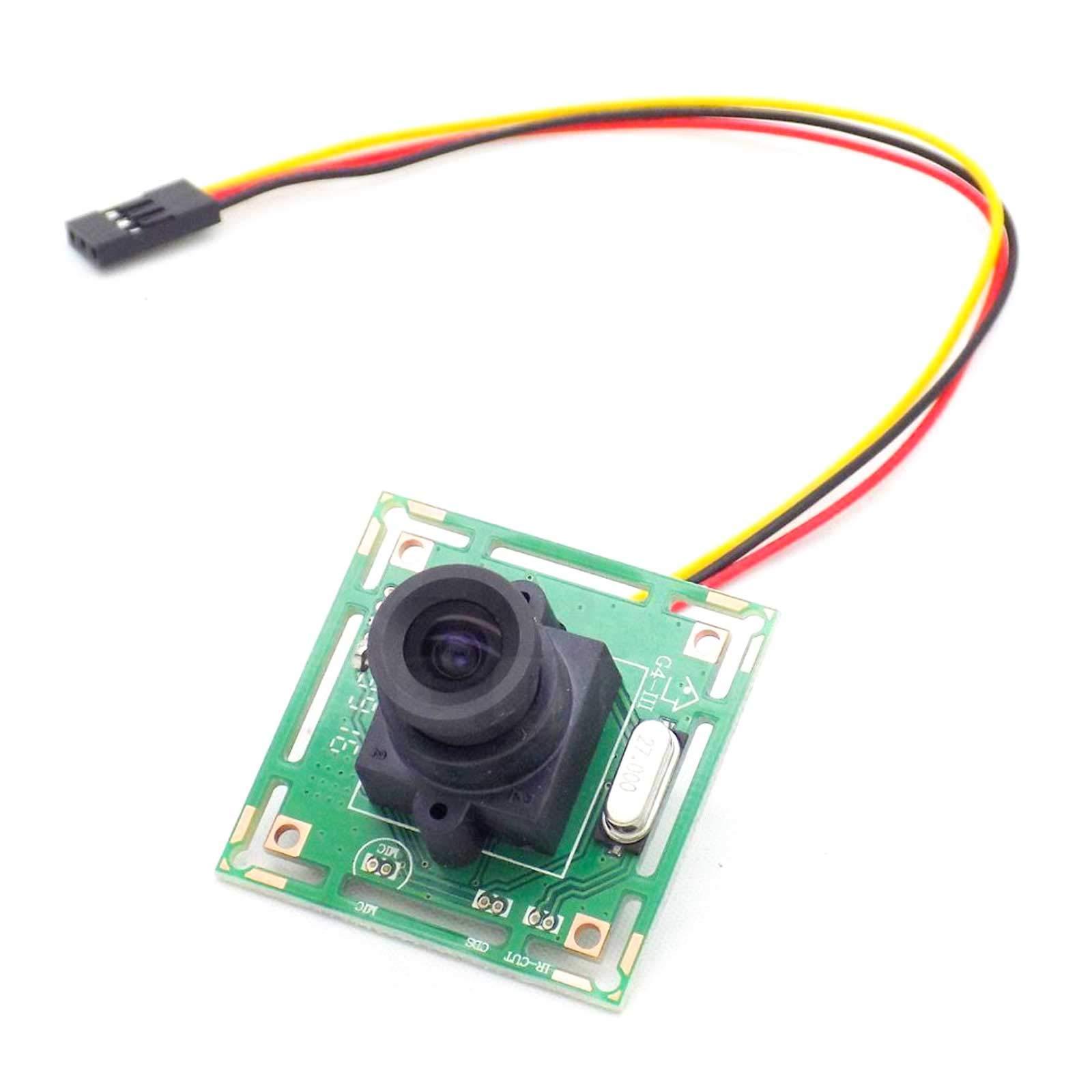 USAQ 700TVL FPV Camera 1/4 CMOS 3.6MM Lens NTSC CCTV Racing Drone HD Camera 12V