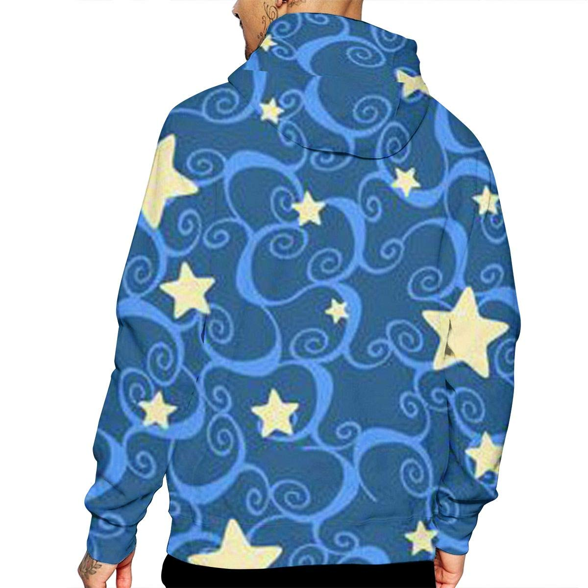 YUANSHAN Stars Wallpaper Mans Long Sleeve Hoodie Casual Pocket Hooded Sweatshirt