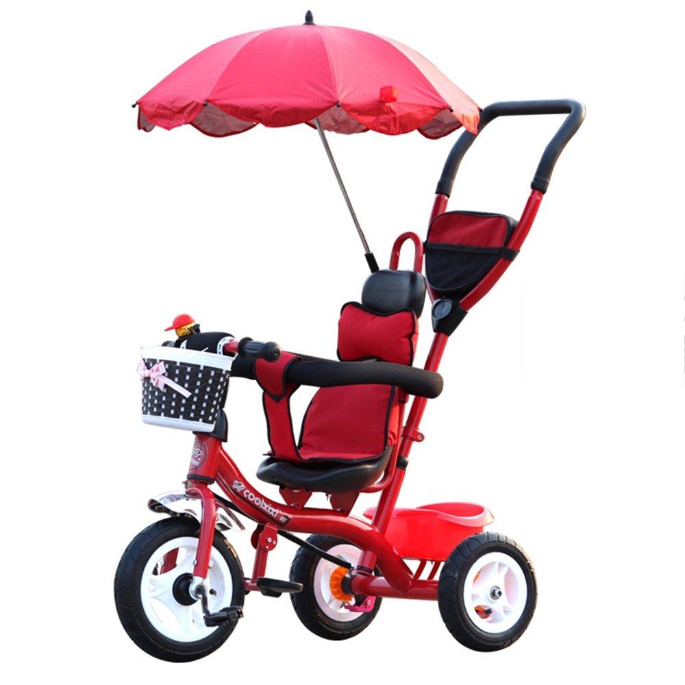 LVZAIXI 3 in 1スマートキッズ三輪車3輪マルチポジションチルドレンベビーライドオントライクバイク三輪車自転車アウト ( 色 : Red1 ) B07BWCZMKY Red1 Red1