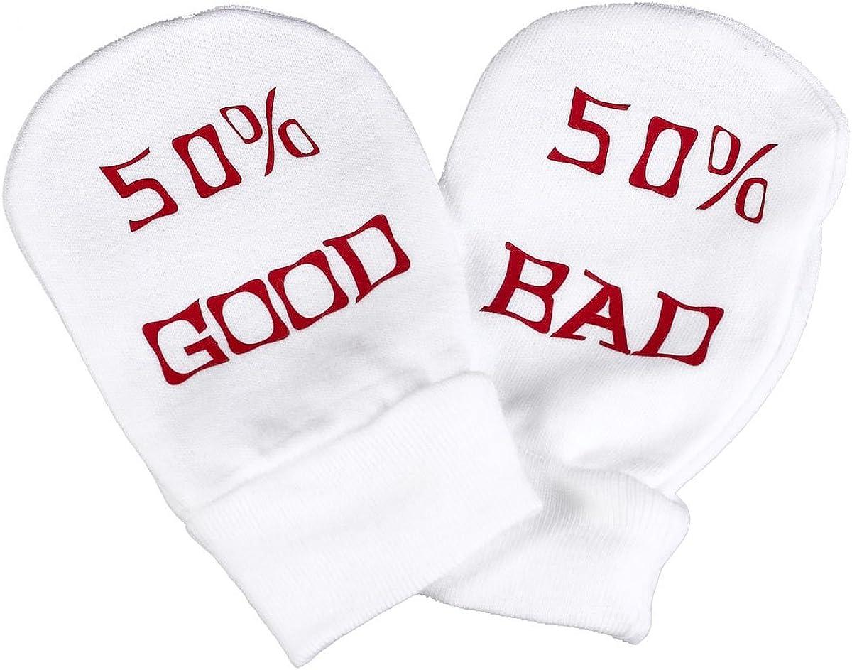 50/% Mummy 50/% Daddy 100/% Organic Cotton Baby Mittens Spoilt Rotten