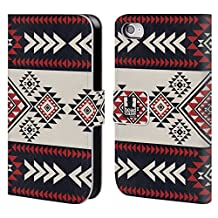 Head Case Designs Navy Blue Neo Navajo Leather Book Wallet Case Cover for Apple iPhone 6 / 6s