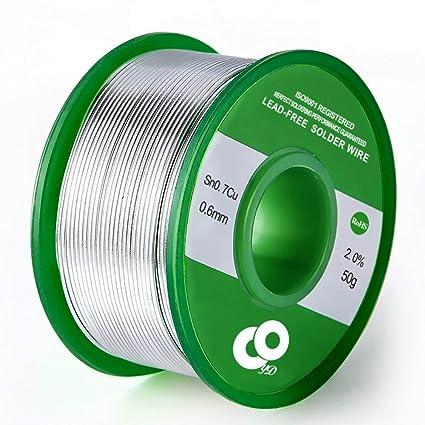 Alambre de soldadura 60 – 40 alambre de alambre para soldar eléctrico y bricolaje 0,