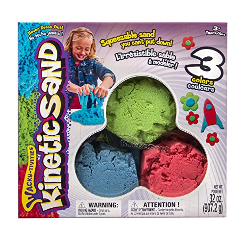 The One & Only Kinetic Sand Bundle Pack: Red, Green & Blue
