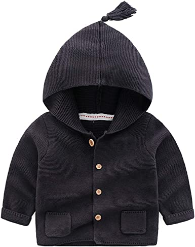 TAIYCYXGAN Unisex Baby Boys Girls Button Cardigan Sweaters Kids Cotton Hollow Out Sweater Jacket Coat
