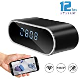 DareTang HD 1080P Wifi Hidden Camera Alarm Clock Night Vision/Motion Detection/Loop Recording Home Surveillance Spy Cameras