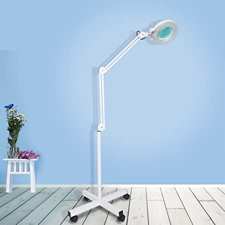 Sanqiao magnifier vertical clip floor stand lamp magnifier lamp sanqiao magnifier vertical clip floor stand lamp magnifier lamp light adjustable beauty 5 diopter stand salon mozeypictures Choice Image