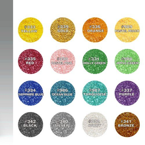 Natural Edible 16 Colors Set Nuts Dairy Soy Gluten GMO Sugar Free Glitter ...