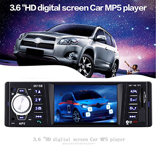 AUTOLOVER 3615B 3.6 inch Car Audio Stereo TFT Screen Rear View Camera Bluetooth V2.0 12V Auto Video MP5 AUX FM USB SD MMC Remote Control by Gearbest