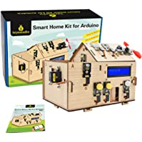 KEYESTUDIO Smart Home Starter Kit for Arduino for Uno R3, Electronics Home Automation Coding Toys, Wooden House DIY…