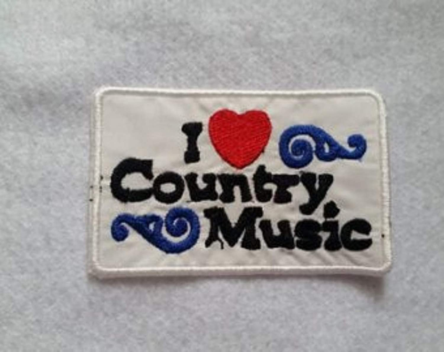 I love Country Music Iron On Patch