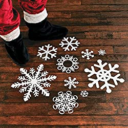 Fun Express Snowflake Floor Decals