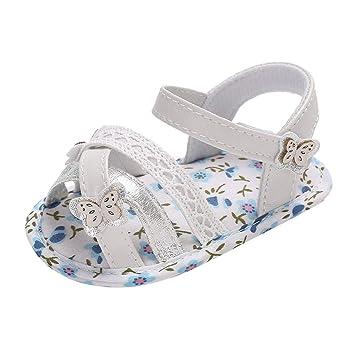 Amazon.com: Zapatillas de verano para bebés y niñas, estilo ...