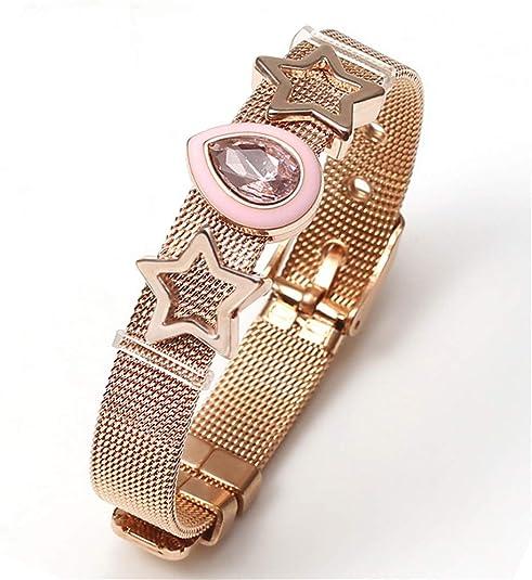 DiamondJewelryNY INOX Womens Stainless Steel Mesh Bracelet Belt