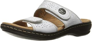 Clarks Women's Leisa Lacole Sandals, White Leather, 10 M US