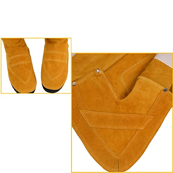 Accreate Wear-Resistant Insulation Heat Welder Boots Welding Spats Foot Cover Protector (Yellow) - - Amazon.com