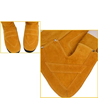 Amazon.com: Wear-Resistant Heat Insulation Welder Boots Welding Spats Foot Cover Protector: Clothing
