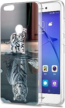 Zhuofan Plus Coque Huawei P8 Lite 2017, Silicone Transparente avec Motif Design Antichoc Housse de Protection TPU 360 Bumper Souple Case Cover pour ...