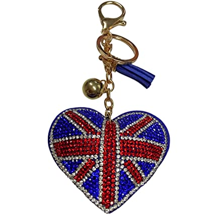 Amazon.com: Keychain England Flag Key Ring for Handbag ...
