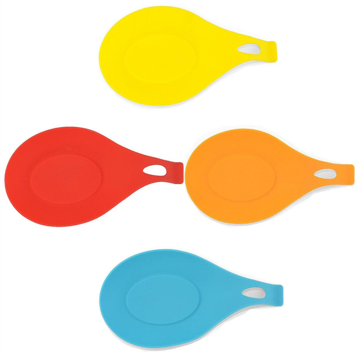 4 pcs/set Kitchen Heat Resistant Silicone Spoon Rest Utensil Spatula Holder Kitchen Tool set of 4 huaminxiangyue 4335499361