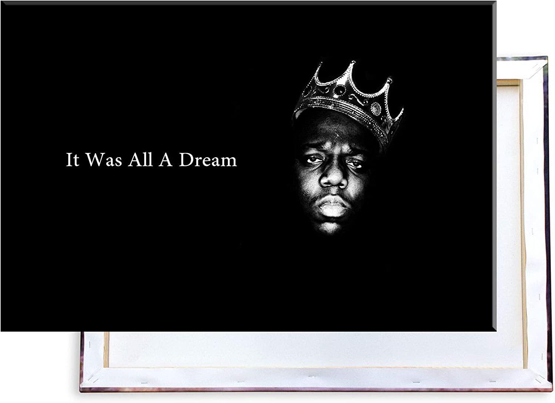 60x40 cm Kunstdruck auf Leinwand /• erstklassige Druckqualit/ät /• Dekoration /• Wandbild Unified Distribution The Notorious B.I.G