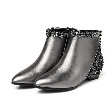 fbb021250ce258 Hy Chaussures habillées pour Femme , Automne/Hiver Nouveau Confortable  Bottines à Talons épais,