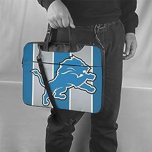 ALHOKLAus Detroit Lions Stylish Customized Laptop Bag, Portable Shoulder Bag, Crossbody Bag and Briefcase (3 Sizes)
