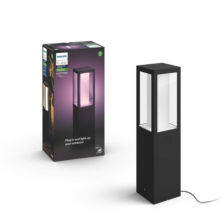bis zu 16 Millionen Farben Philips Hue White and Color Ambiance LED Wandleuchte Impress schmal dimmbar kompatibel mit  Alexa steuerbar via App f/ür den Aussenbereich Echo, Echo Dot