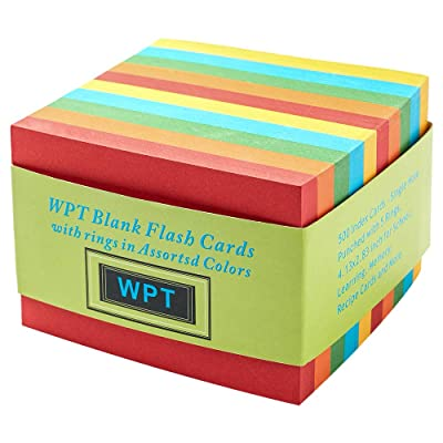 Wopeite Blank Flash Cards Index Card in Assorted Colors 500 Index Cards Single ,2.83 X 4.13 inches: Toys & Games