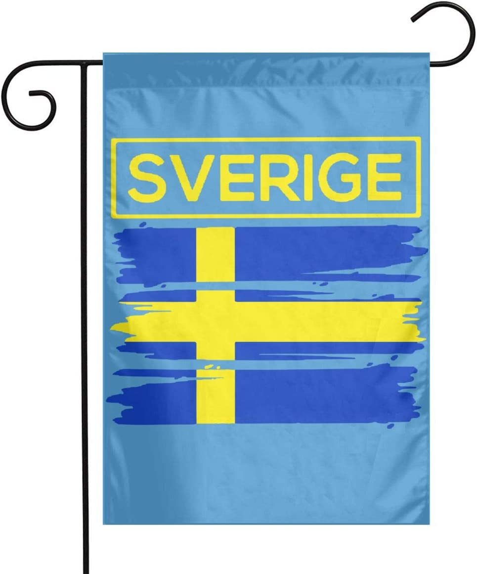 Amazon Com Sverige Sweden Swedish Flag Demonstration Garden Flag Banner Present Garden Yard Flag 12 X 18 Kitchen Dining