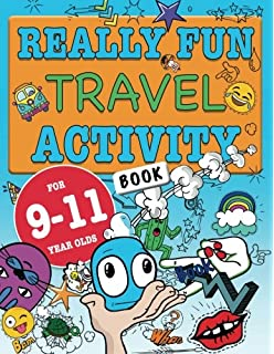 really fun travel activity book for 9 11 year olds fun educational activity