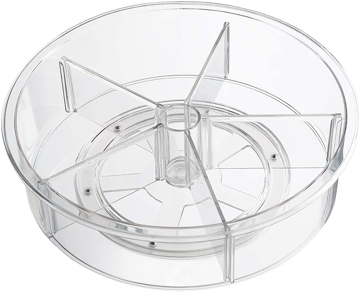 FIRJOY Lazy Susan Turntable, Pantry Cabinet Organizer with Dividers, 3