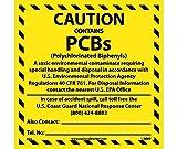 National Marker Corp. HW4ALV Caution Contains Pcb'S Hazmat Label