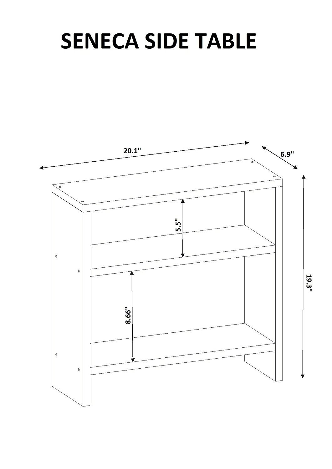 Indoor Multi-function Accent table Study Computer Desk Bedroom Living Room Modern Style End Table Sofa Side Table Coffee Table Modern Side Table End Table