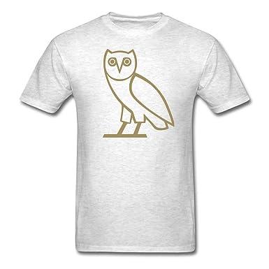 11df3de4062d86 Men s Short Sleeve T-Shirts OVO Drake Owl Shirt Gray XXX-Large ...