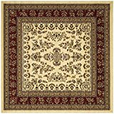 Cheap Safavieh Lyndhurst Collection LNH331A Traditional Oriental Ivory and Red Square Area Rug (6′ Square)