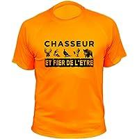 AtooDog Tee Shirt Chasse, Chasseur et Fier de l'être, Idée Cadeau