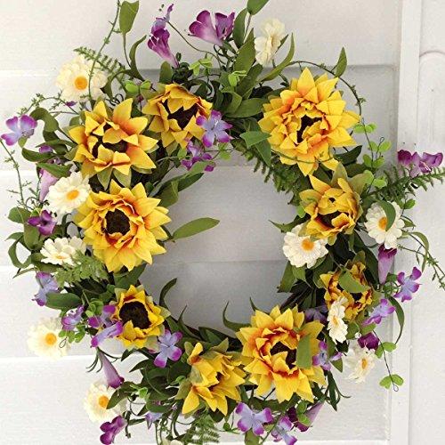 Flora Decor Summer Sunflower Wreath - 22