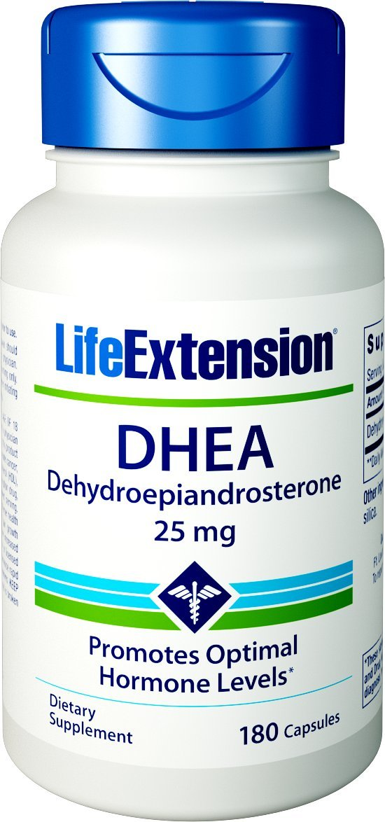 Life Extension Dhea 25 mg Capsules, 180 Count