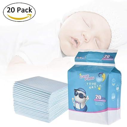 Pueri 20pcs Cambiadores Pañales Desechables para Bebés Almohadillas Absorbentes Urinales para Bebés Mantas de Cambiadores para Cunas (20pcs): Amazon.es: ...